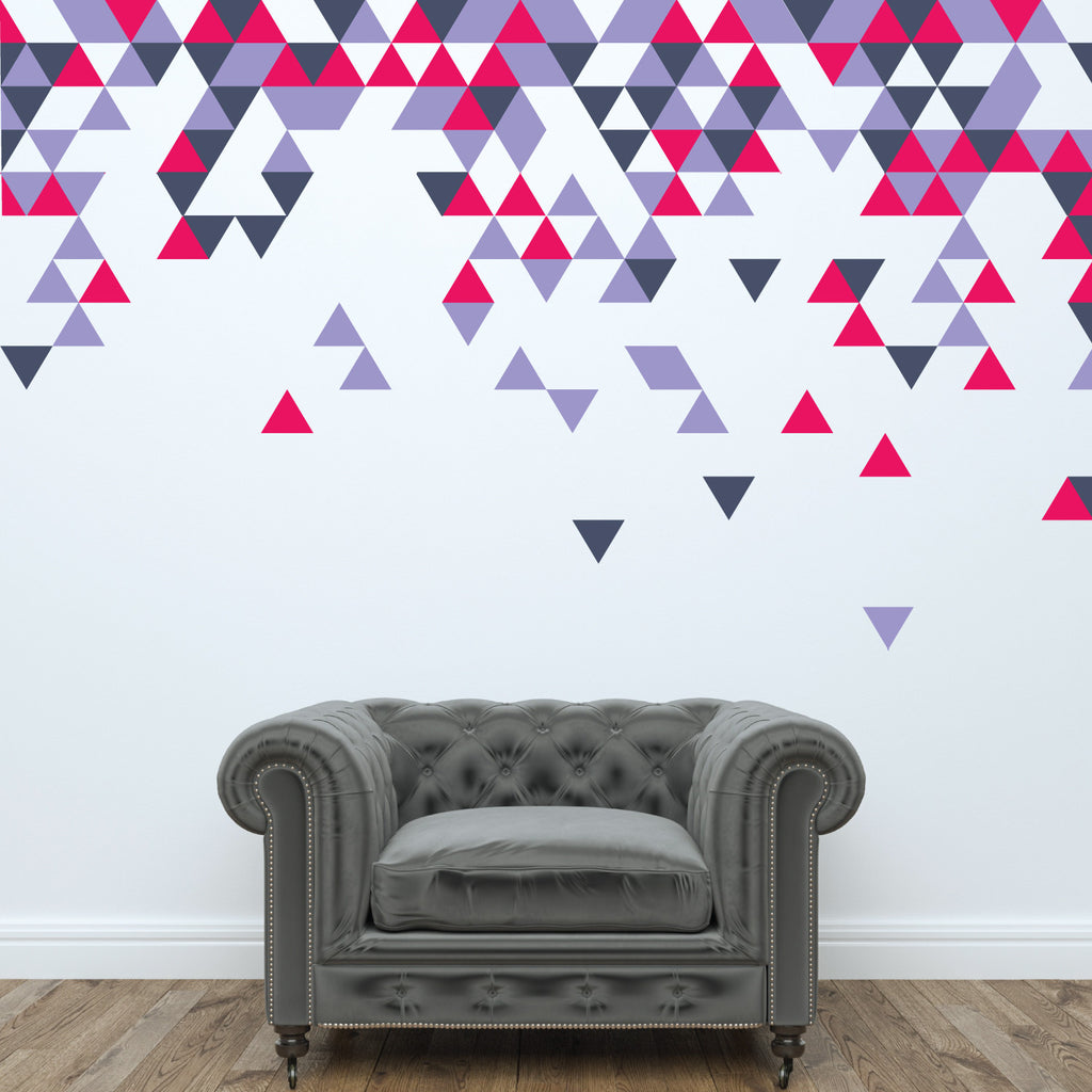 Geometric Abstract Triangle Wall Stickers Wallboss Wall Stickers