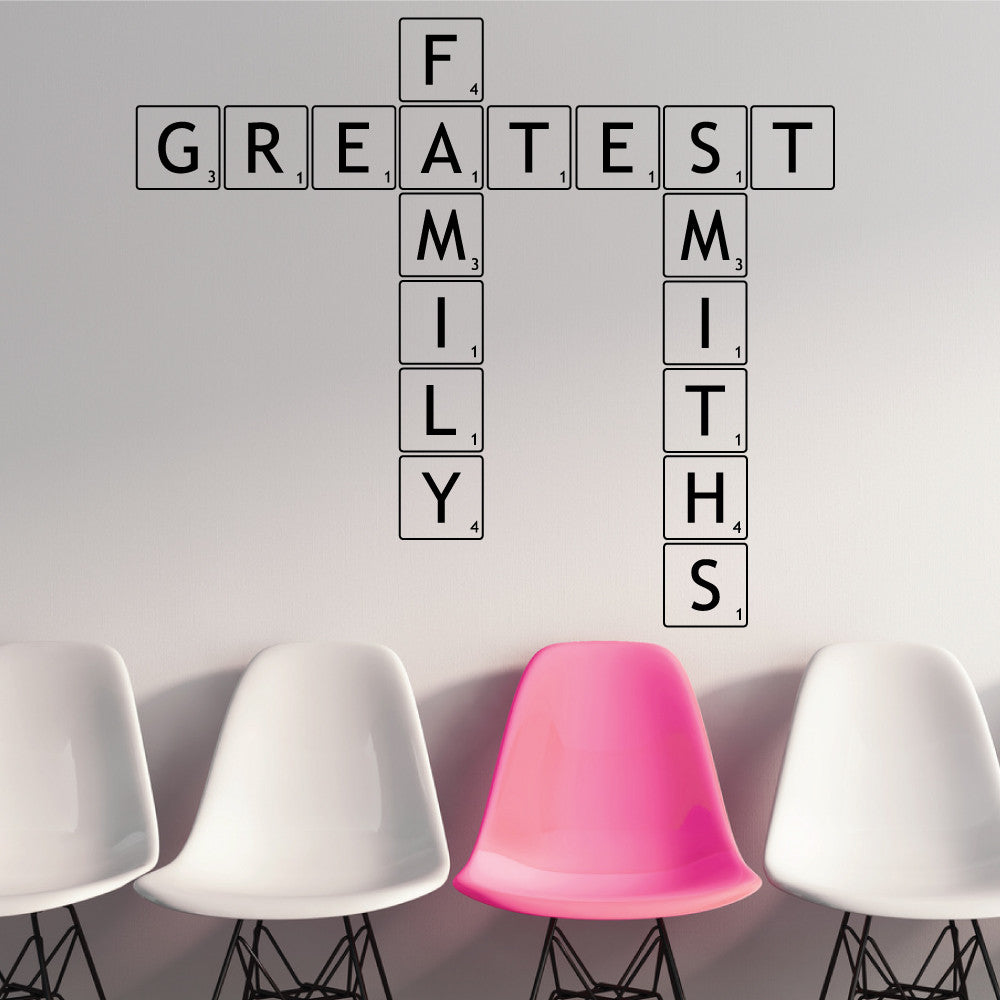 Personalised Letter Tiles Wall Stickers