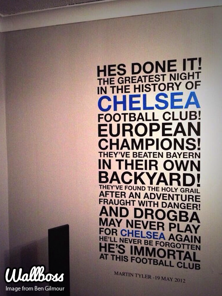 Chelsea Football Quote Munich Wall Sticker