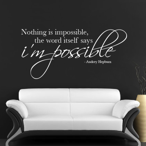 Nothing Is Impossible Wall Sticker Part 91