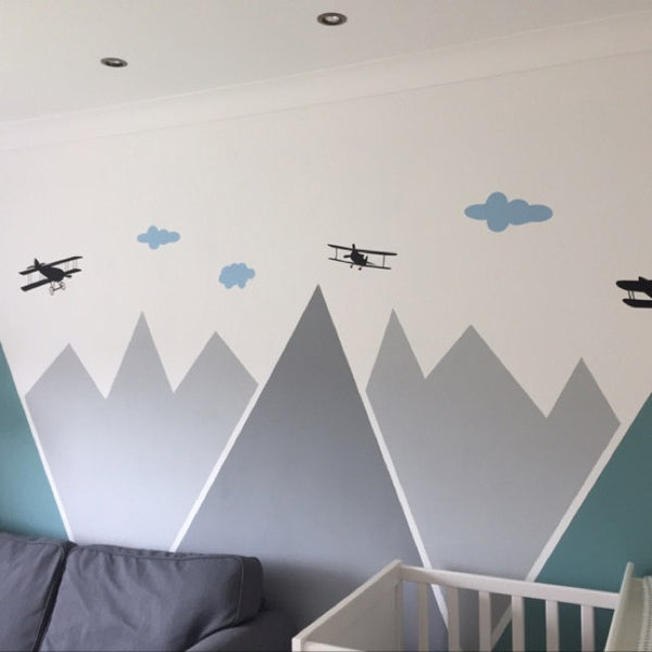 Planes over mountains stickers
