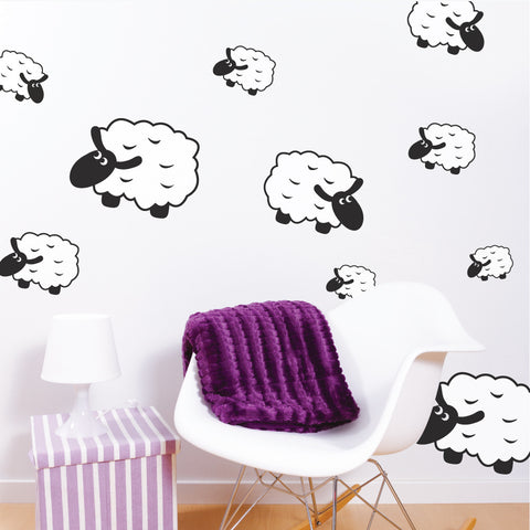 Counting Sheep Wall Stickers