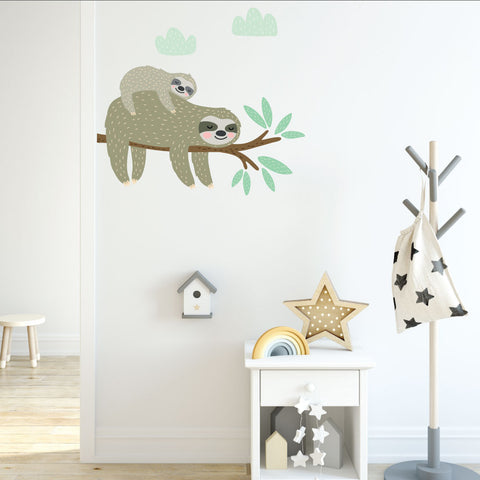 Sloth On A Branch Wall Sticker
