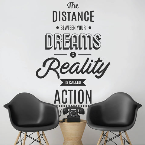 Large Motivational Wall Sticker