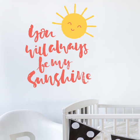Sunshine Nursery Wall Decal Sticker