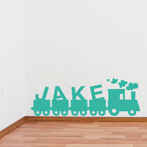 Childrens Name Train Wall Sticker