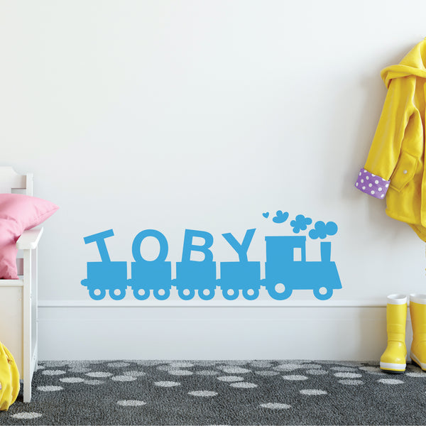 Train name wall sticker
