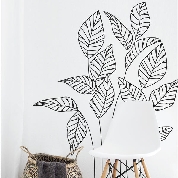 Tropical Leaves Wall Stickers
