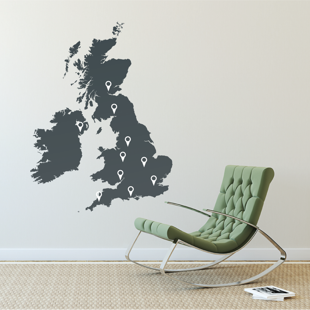 World Map Outline Wall Decal Wallboss Wall Stickers Wall Art