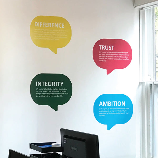 Office Values Wall Stickers