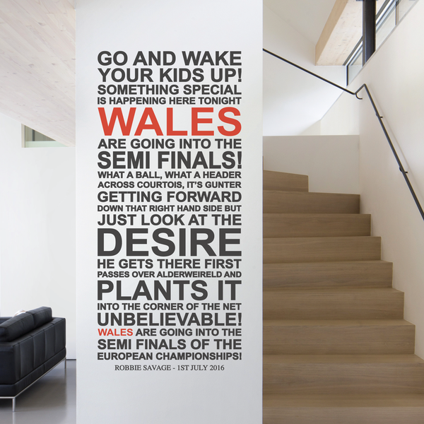 Wales Football Euro Wall Decal