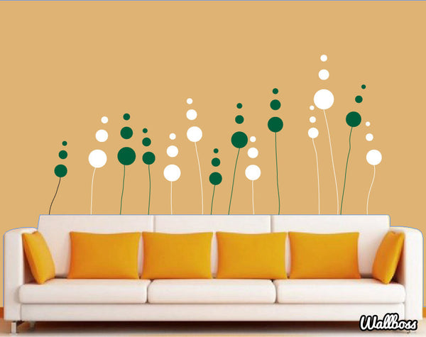 Abstract Flower Wall Stickers