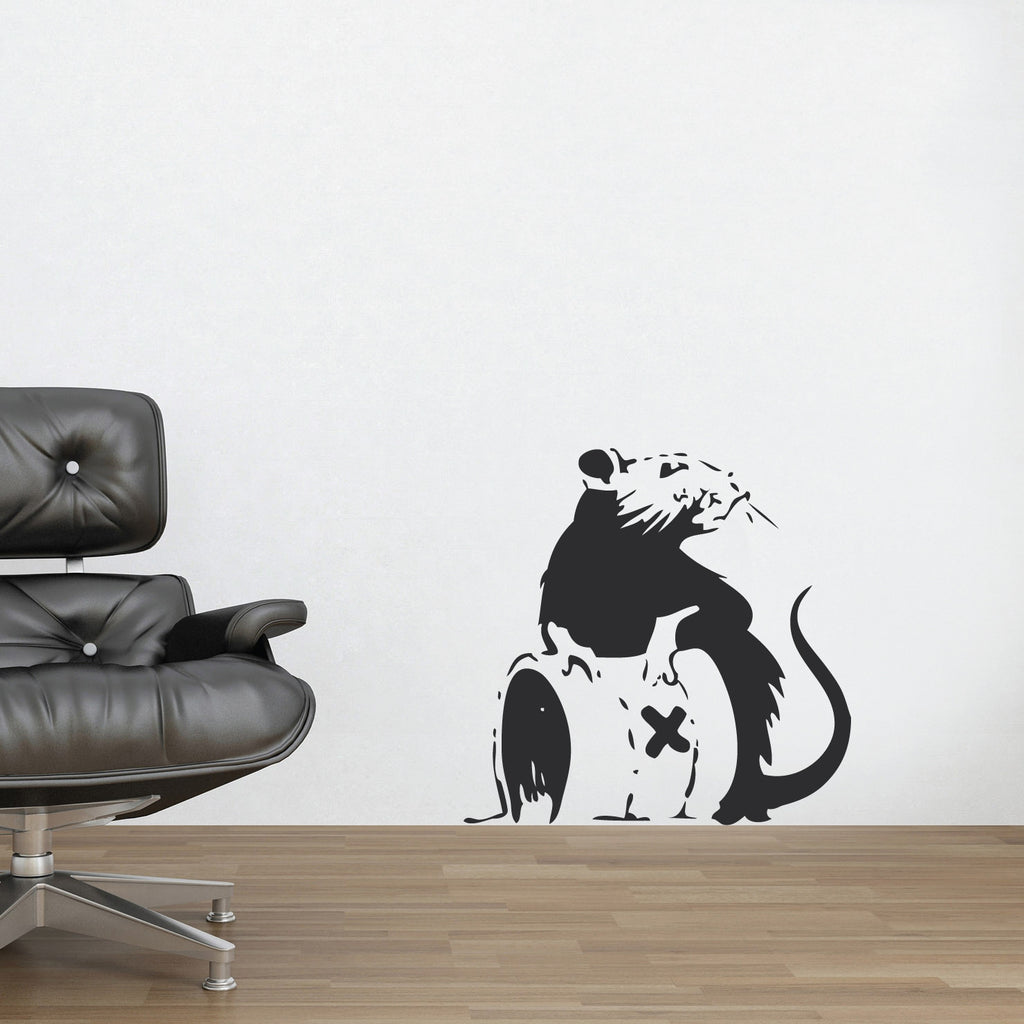 banksy wall art stickers shenra com banksy wall stickers banksy rat poison wall decal urban art