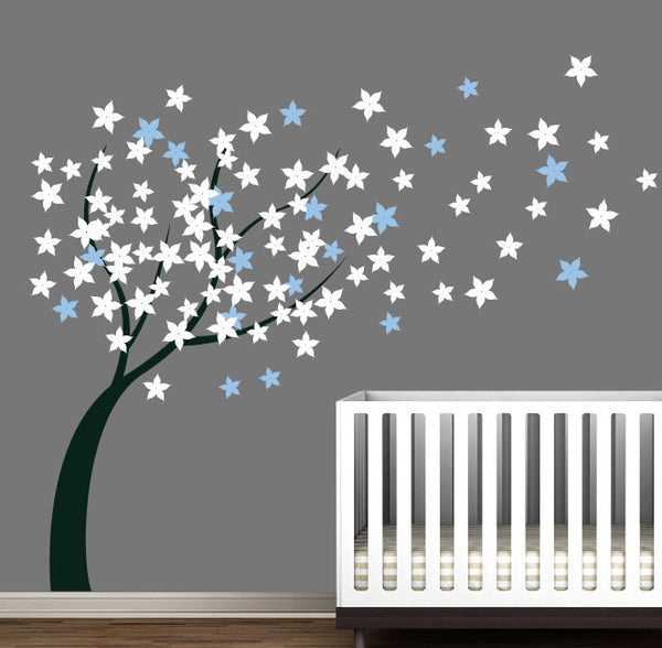 Nursery Blossom Flower Tree Wall Sticker