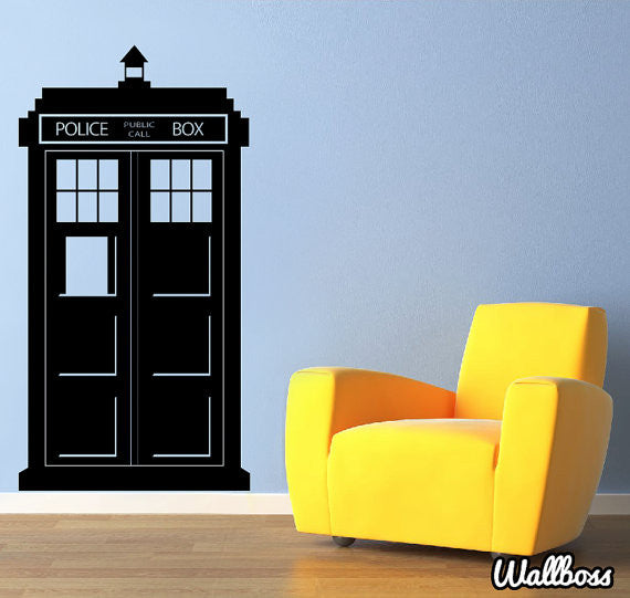 Charmant Tardis Wall Sticker