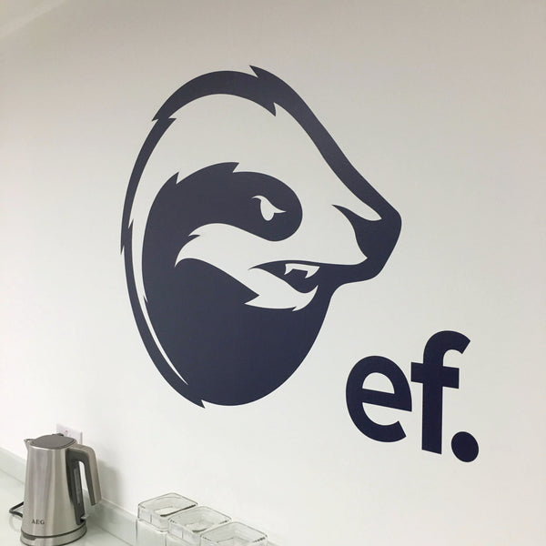 EF vinyl wall Logo sticker