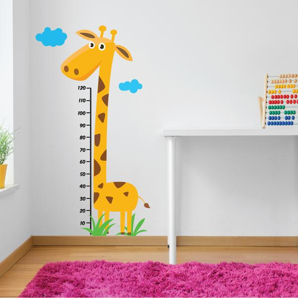 kids giraffe animal sticker for a bedroom or playspace