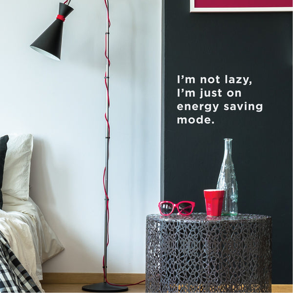 Lazy Life Wall Sticker Funny Decal Quote