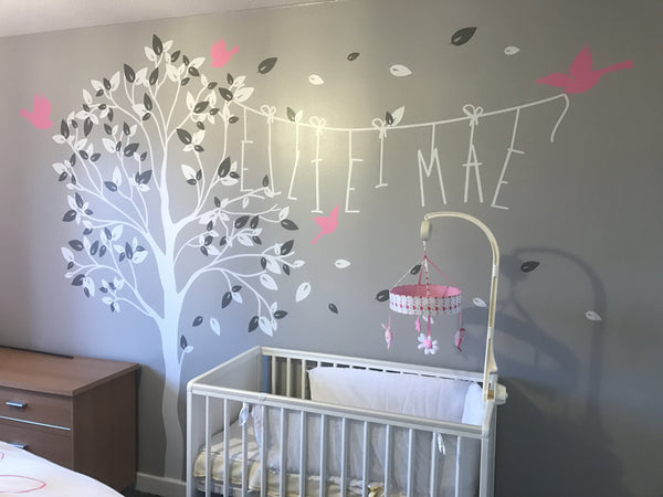Nursery Tree Wall Sticker Name