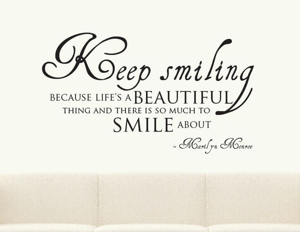 Keep Smiling Marilyn Monroe Wall Sticker