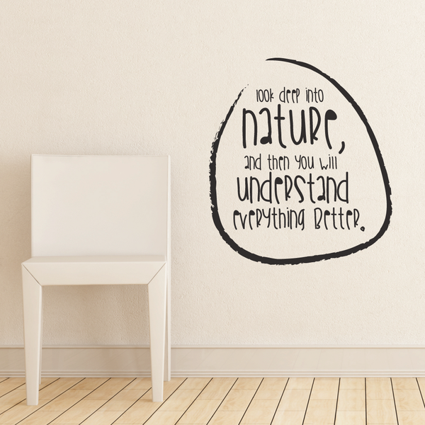 Look Deep Into Nature Wall Vinyl By Wallboss