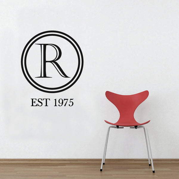 Monogram Letter Wall Sticker