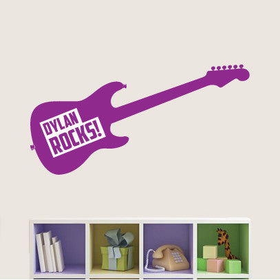 Personalised Childrens Guitar Wall Sticker
