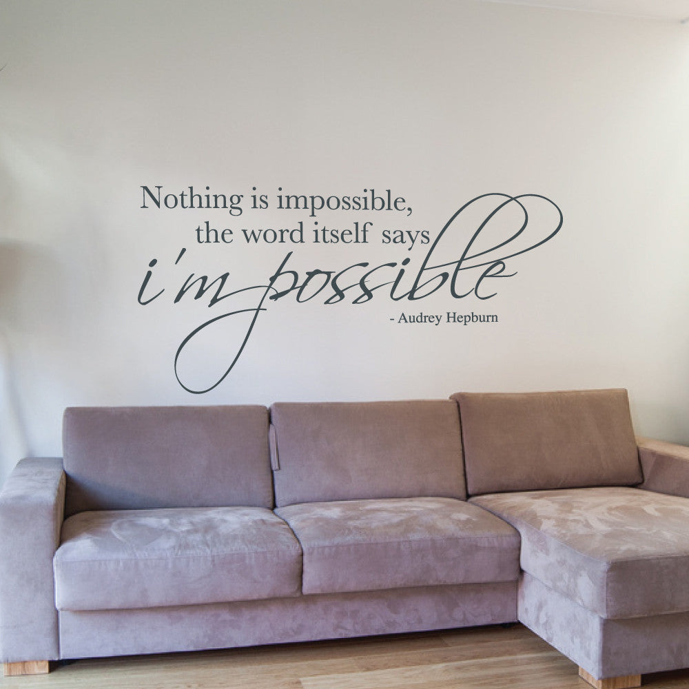 nothing is impossible wall sticker audrey hepburn wall decal