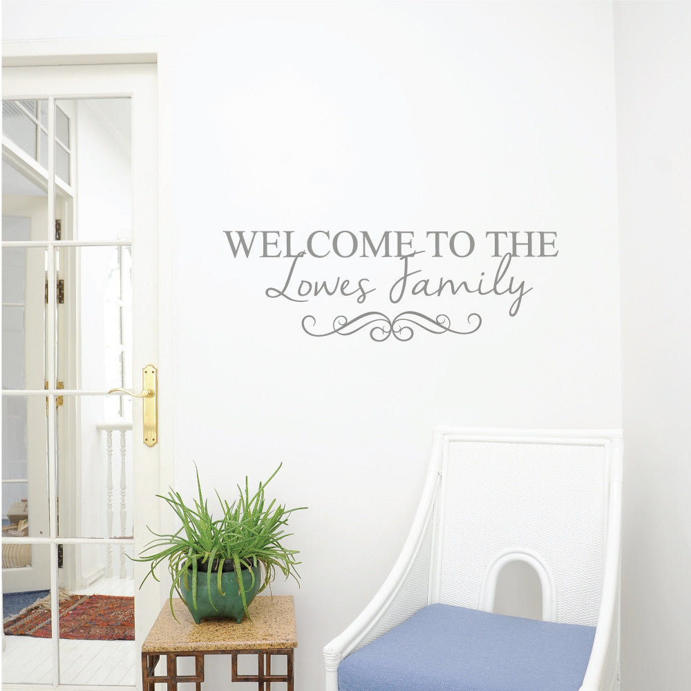 Family Wall Sticker. Personalised Family Name Wall Sticker From £24.99