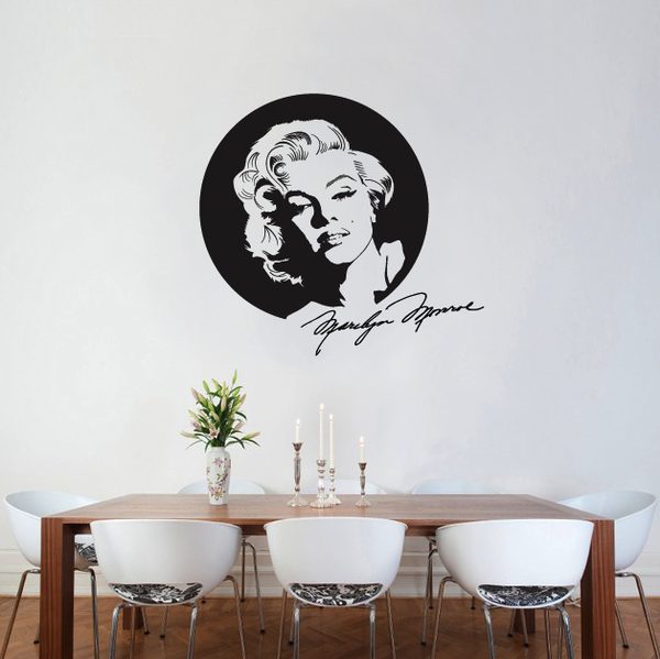 Marilyn Monroe With Signature Wall Sticker