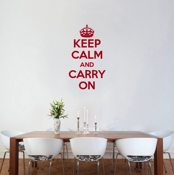 Keep Calm And Carry On Wall Sticker By Wallboss Wallboss