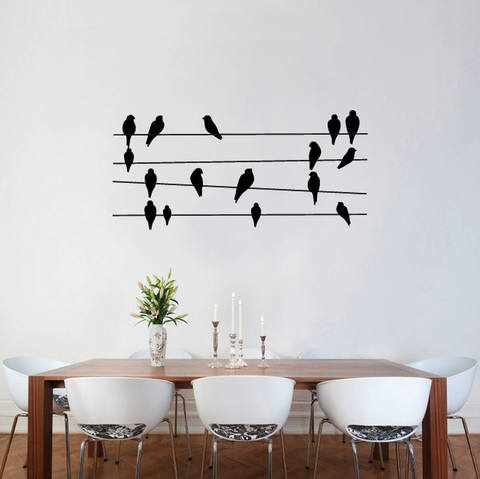 Birds On Wires Stickers