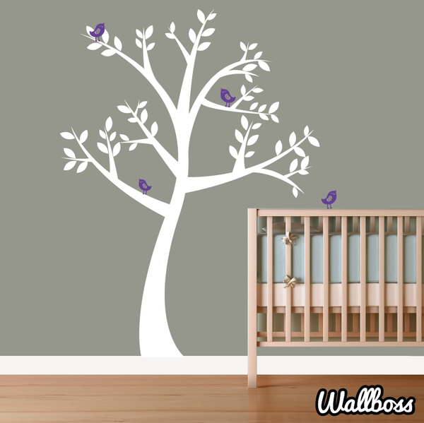Big Nursery Tree Wall Sticker With Birds