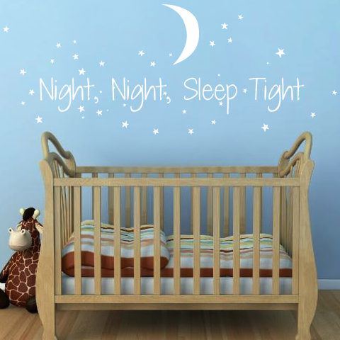 Night Night Sleep Tight Wall Sticker