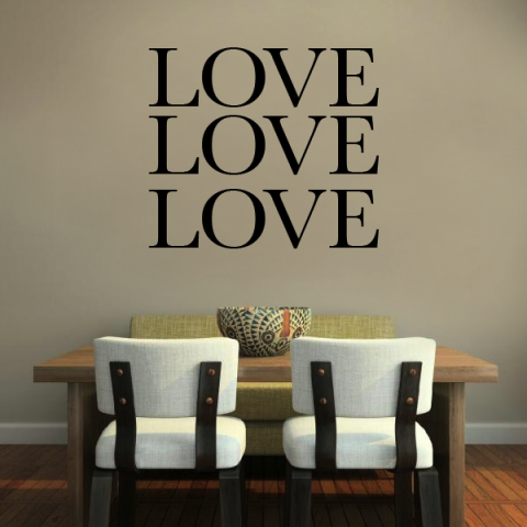 Love Love Love Wall Sticker