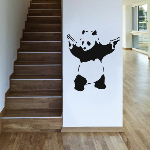 Banksy Panda Uk Wall Sticker