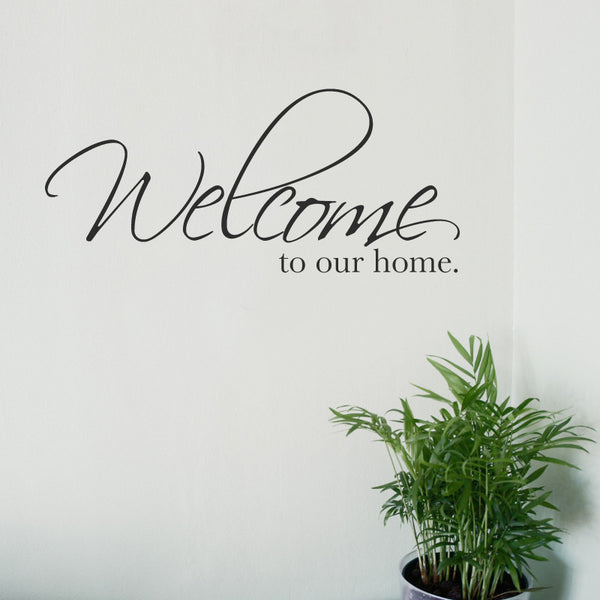 Welcome to our home Wall Sticker