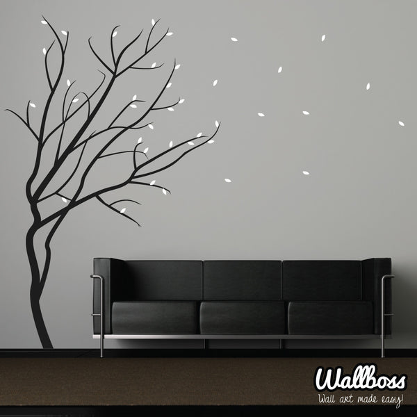 Windy Winter Tree Wall Sticker