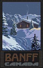 Banff National Park/Snowy Cabin Poster • PAL-2344
