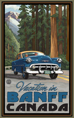 Banff National Park/Vacation In Vintage Car Poster • PAL-2523