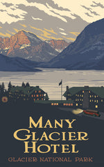 Glacier National Park /  Many Glacier Hotel Poster • PAL-2560
