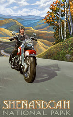 Shenandoah National Park/Motorcycle Dude Poster • PAL-2692