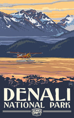 Denali National Park / Seaplane On Water Poster • PAL-3048