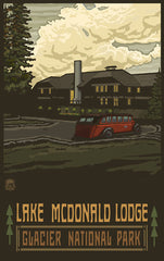 Glacier National Park / Lake McDonald Lodge Poster • PAL-3207