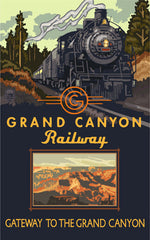Grand Canyon National Park/Steam Engine Poster • PAL-3672