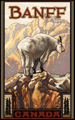 Banff National Park/Mountain Goat Poster • PAL-3942
