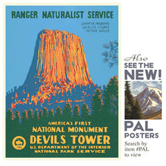 Devil's Tower National Monument • WPA • RDE-7160