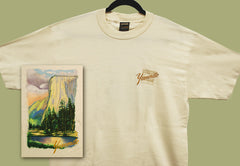 Yosemite El Capitan On Natural T-Shirt • TPC-504