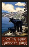 Crater Lake National Park / Black Bear With Cub Poster • PAL-1990