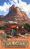 Bryce Canyon National Park / Red Jeep Poster • PAL-1999